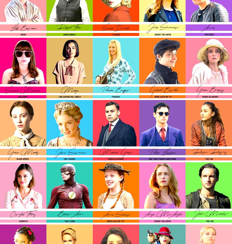 Série   Personnages préférés de séries