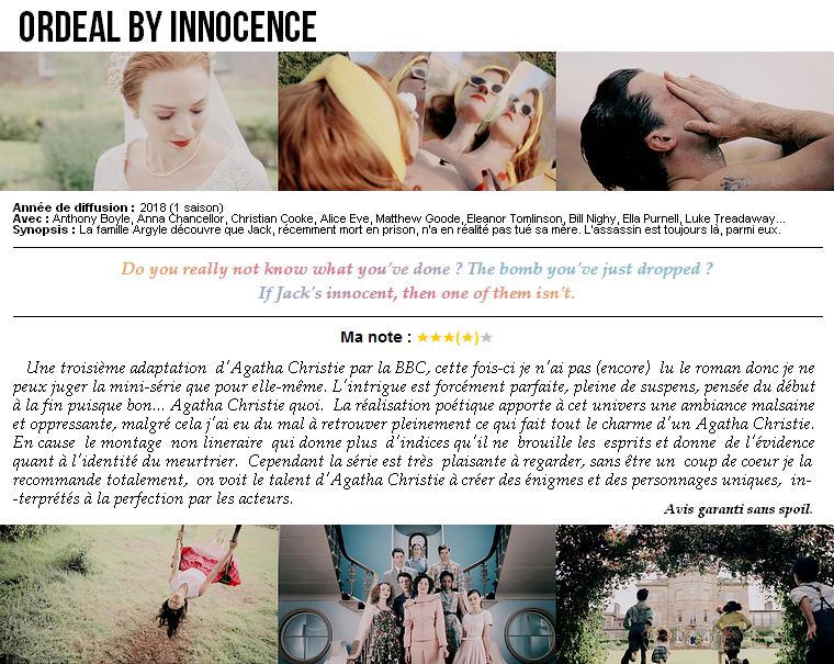 Série   Ordeal By Innocence