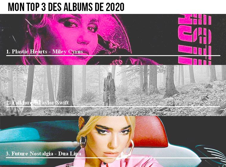 Musique | Mon top 3 des albums de 2020