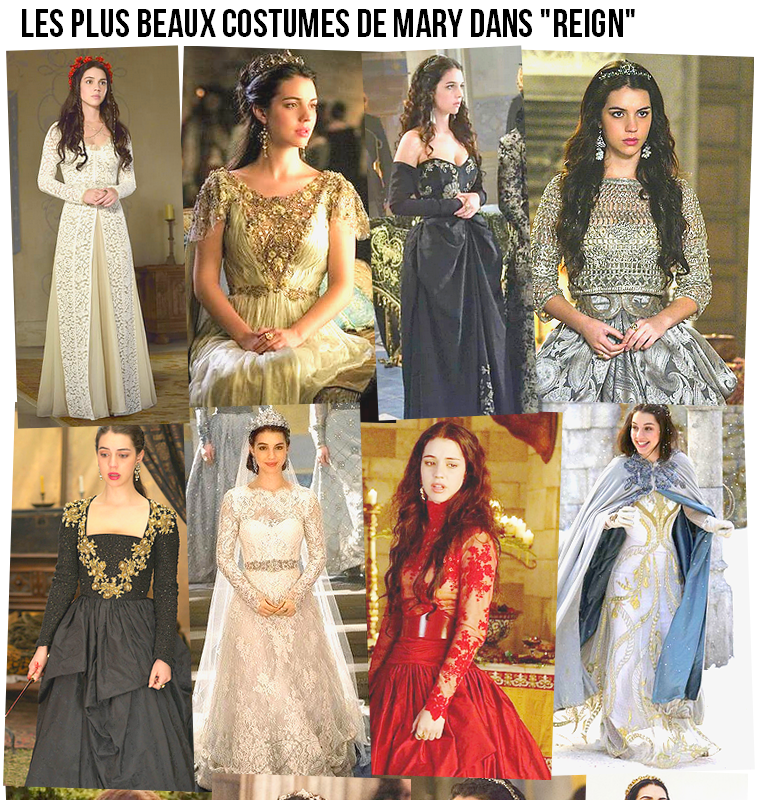 """Série   Les plus beaux costumes de Mary dans """"Reign"""""""