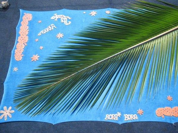 Paréos feuilles de Polynésie