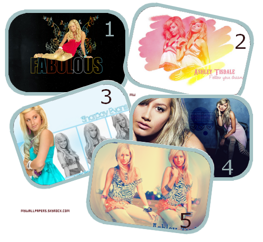 Pack fonds d'écrans : Ashley Tisdale