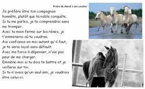 Voici la prière du cheval