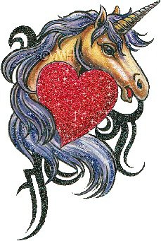 Un cheval avec un c½ur qui scintille