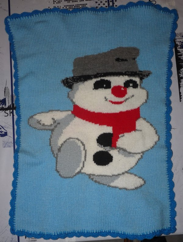 Petite couverture en laine tricotée par VendPulTricoter