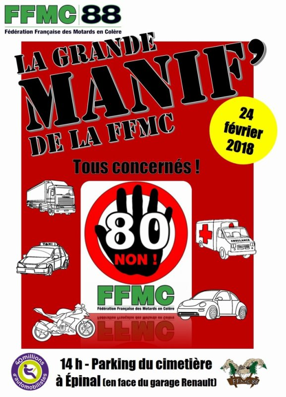 MANIFESTATION FFMC A EPINAL SAMEDI 24 FEVRIER