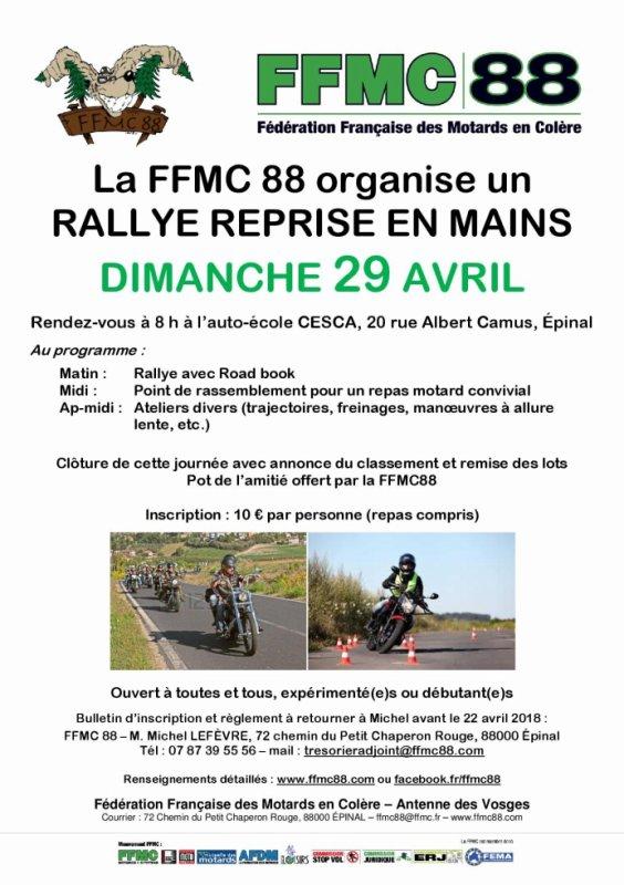 RALLYE 2018 ORGANISE PAR LA FFMC 88