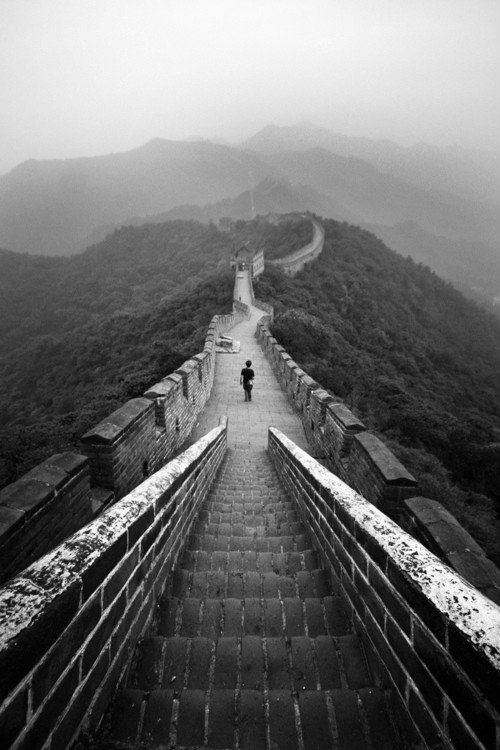 « C'est un symbole. Comme disent les Chinois : Qui n'est pas venu sur la grande muraille n'est pas un brave et qui vient sur la grande muraille conquiert la bravitude.  »