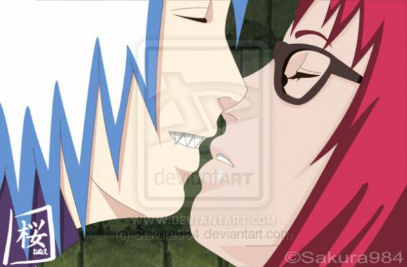 Suigetsu et Karin kissu