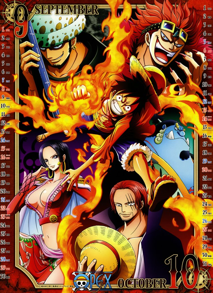 Calendrier One Piece 2013
