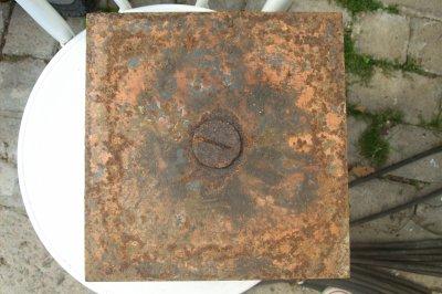 Mines anti-tank belge modèle Hannecart type A de récup. allemande     ORIGINAL WW2