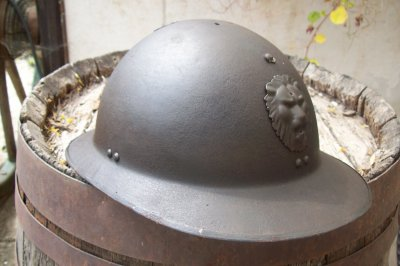 casque adrian Belge     ORIGINAL WW2