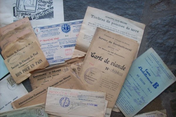 Rentrée de document civiles        ORIGINAL WW2