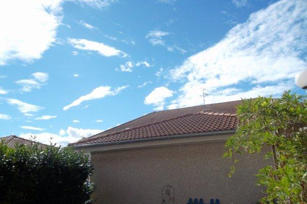 le ciel aujourd'hui à Douvaine    !!!