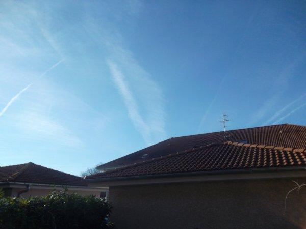le ciel de cette semaine   à Douvaine   !!!