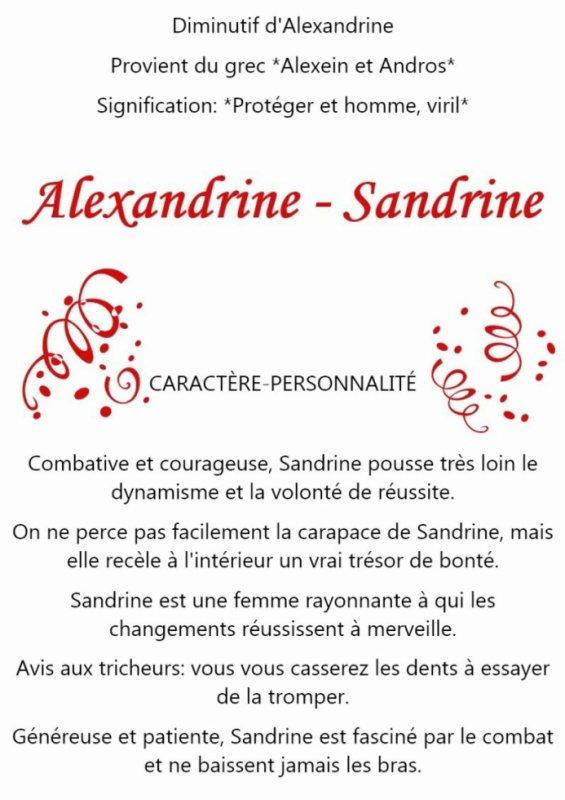 bonne fete à toutes les Sandrine    !!!