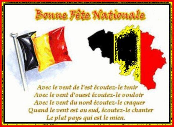 bonne fete Nationale à tous nos amis Belges   !!!
