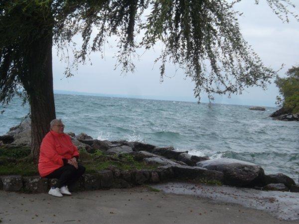 Yvoire au bord du lac Léman appelé la perle du lac   !!!