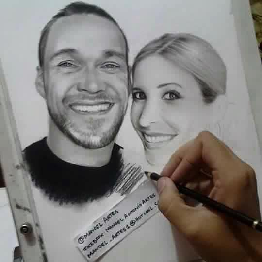 Chris Powell et son épouse