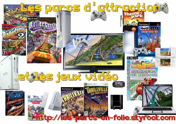 Les parcs d'attraction et les jeux vidéo