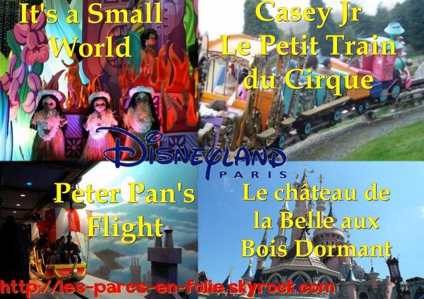 Disneyland Park : Fantasyland ==> Les attractions principales
