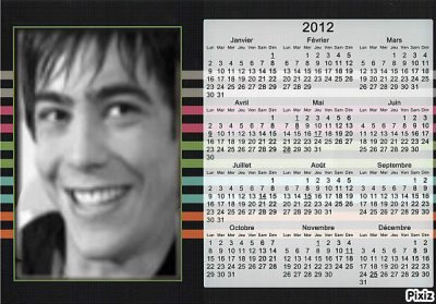 calendriers 2012 grégory lemarchal :)!