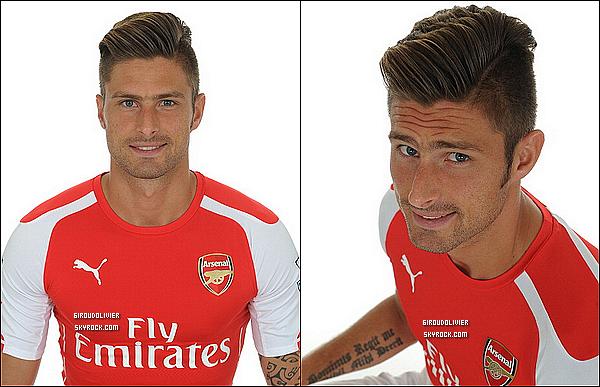 - • Découvrez deux nouveaux portraits d'Olivier pour la saison 2014/15 avec Arsenal  -