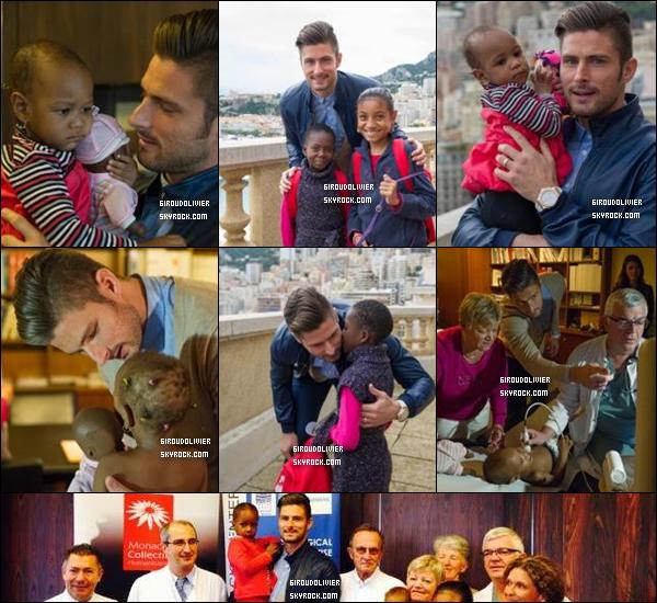 - 14/11/14 :Olivier a rendu visite à des enfants du centre cardio-thoracique de Monaco. Il est l'ambassadeur du projet Monaco Collectif Humanitaire qui prend en charge des enfants du Sud non opérables dans leur pays -