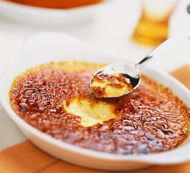 Crème brûlée au potimarron et aux noisettes