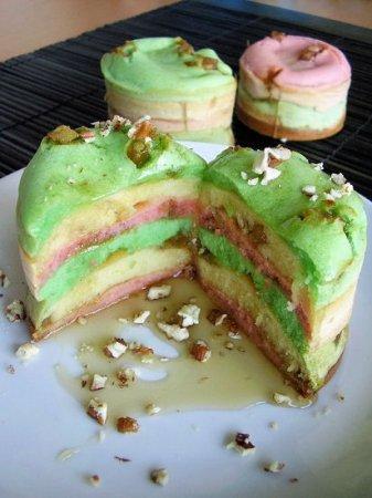 Rainbow pancakes à la pomme et sirop d'érable