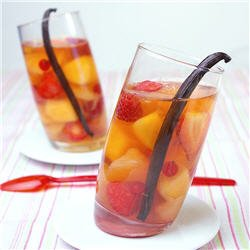 Nage de fruits au thé earl grey