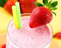 Milk shake citron / fruits rouges