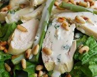 Salade de poulet et d'asperges, sauce crémeuse à l'estragon