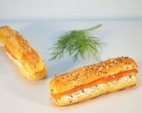 Minis-éclairs au saumon fumé