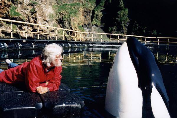 Jean-Michel Cousteau et Keiko
