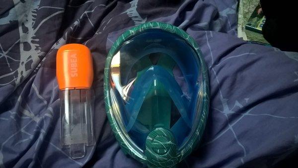 prêt pour les vacances avec mon nouveau masque. :)