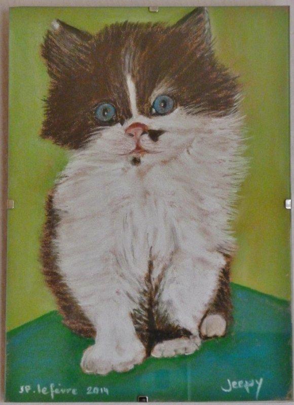chaton au pastel