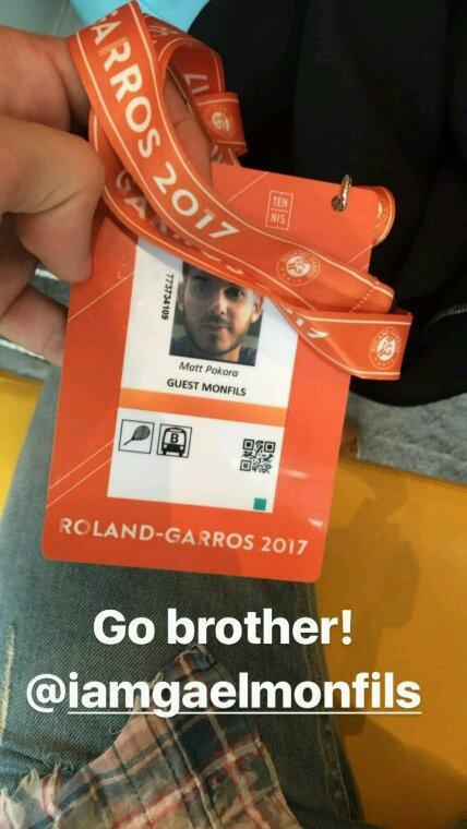 Matt a Rolland Garros