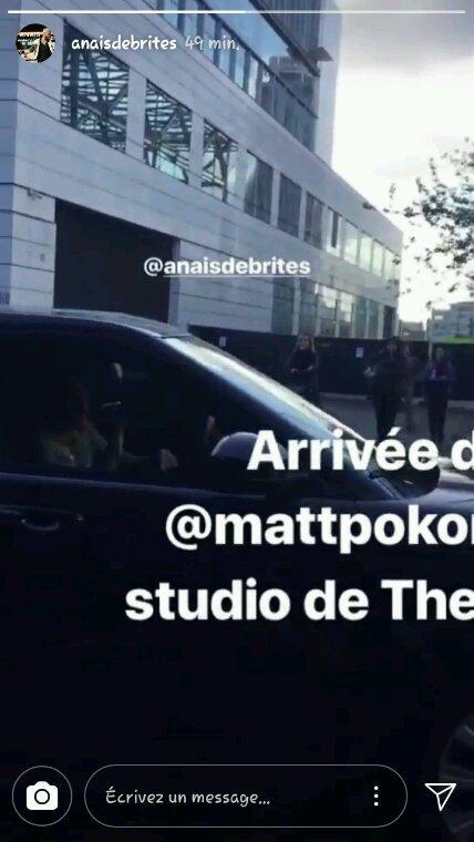 Arrivée de Matt au studio The Voice