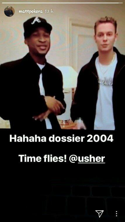 Matt et Usher en 2004