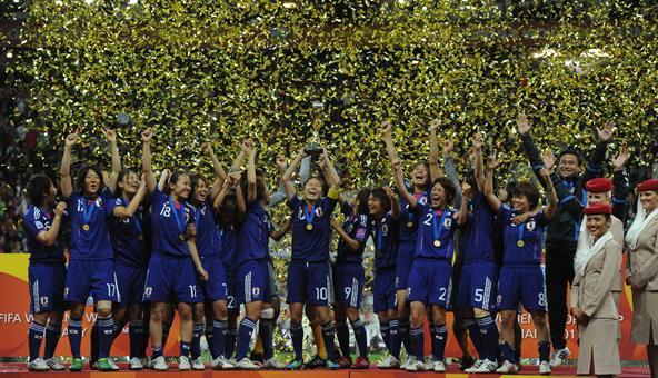 Les japonaises championne du monde de foot.
