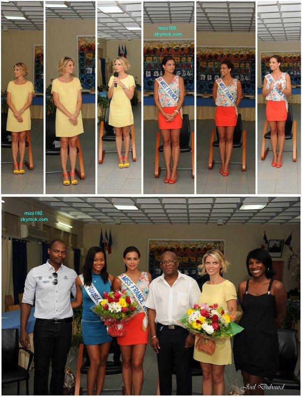 Le 27/07/2013: Miss France ainsi que Sylvie Tellier sont en Guadeloupe!