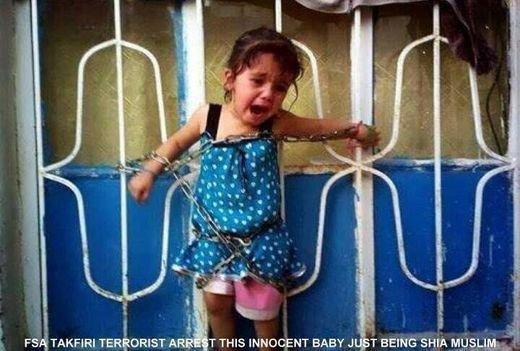 Syrie : le martyr d'une fillette de 2 ans. Merci Obama, Hollande et Cameron