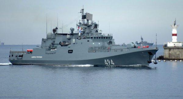 3 GUERRE MONDIAL 2017 EN MARCHE : Une frégate russe dotée de missiles de croisière Kalibr en route vers la Méditerranée