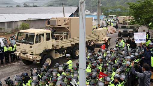 3 GUERRE MONDIAL 2017 EN MARCHE :Arrivée des 1ers éléments du bouclier anti-missiles en Corée du Sud