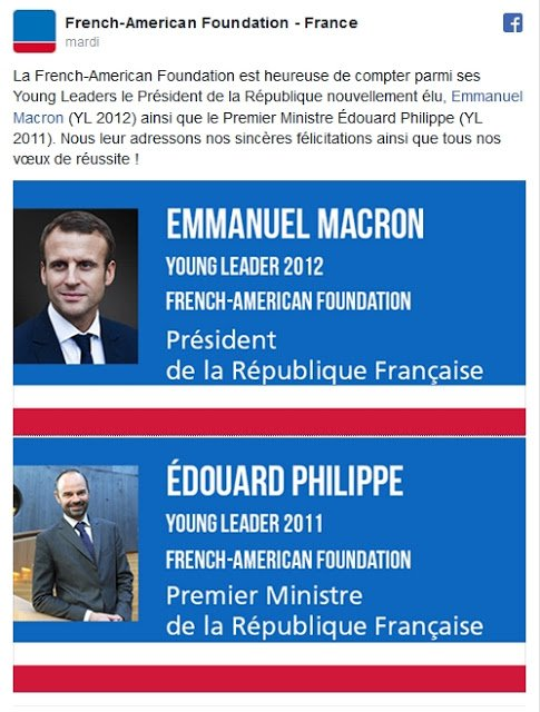 NOUVEL ORDRE MONDIAL SATANIQUE NAZI :Macron et Philippe, «Young Leaders» de la French-American Foundation !