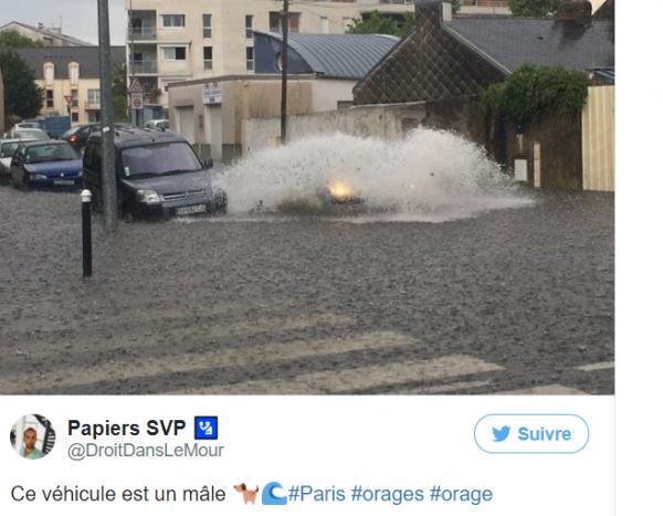 BIG ONE MONDIAL IMMINENT ET FIN DE VIE SUR TERRE ! ARRIVEE DE NIBIRU :Des pluies diluviennes sur Paris et Nantes, 12 départements français en vigilance orange