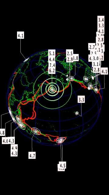 BIG ONE MONDIAL IMMINENT ET FIN DE VIE SUR TERRE ! ARRIVEE DE NIBIRU :Séisme de magnitude 7.4 en Extrême-Orient russe