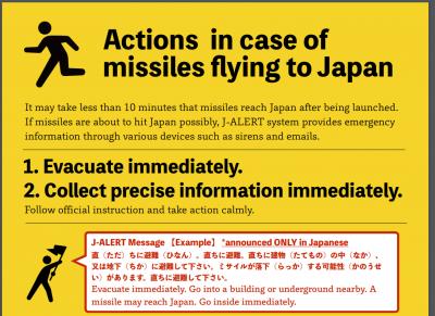 3 GUERRE MONDIAL 2017 EN MARCHE :Des millions de résidents de Tokyo se préparent à des exercices d'évacuation simulant une attaque nucléaire nord-coréenne contre la capitale japonaise
