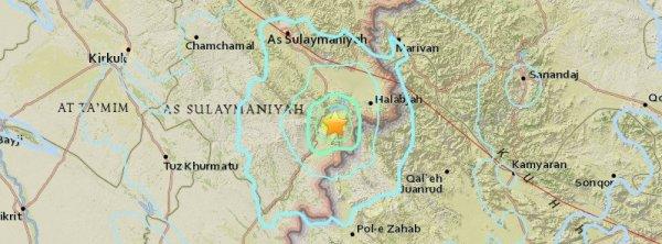 BIG ONE MONDIAL IMMINENT ET FIN DE VIE SUR TERRE ! ARRIVEE DE NIBIRU : Un tremblement de terre M6.0 fort et peu profond frappe la région frontalière Iran - Irak